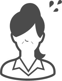 女性のお悩みイラスト2